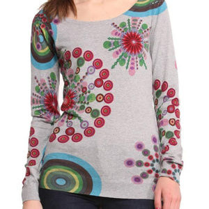 New Desigual sweater floral top XS S L